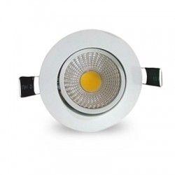 LED downlights 3W downlight - Hull: Ø6,7-8 cm, Mål: Ø8,5 cm, hvit kant, dimbar, 12V