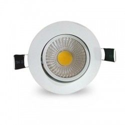 LED downlights 3W downlight - Hull: Ø7-8 cm, Mål: Ø8,5 cm, hvit kant, dimbar, 230V