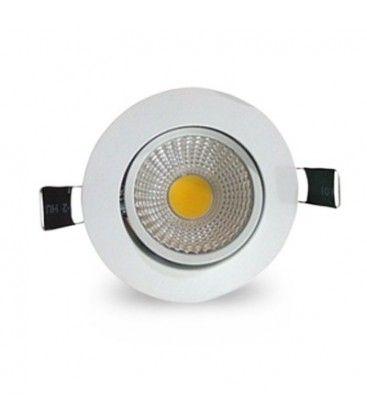 3W downlight - Hull: Ø7-8 cm, Mål: Ø8,5 cm, hvit kant, dimbar, 230V