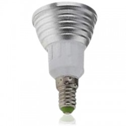 E14 LED RGB3 - LED pære, 3W, 230V, fjernkontroll, E14