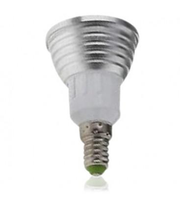 RGB3 - LED pære, 3W, 230V, fjernkontroll, E14