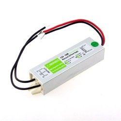 12V RGB 10W strømforsyning - 12V DC, 0,8A, IP67 vanntett
