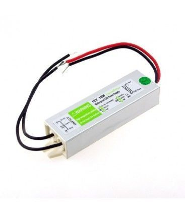10W strømforsyning - 12V DC, 0,8A, IP67 vanntett