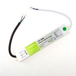 12V RGB 20W strømforsyning - 12V DC, 1,6A, IP67 vanntett