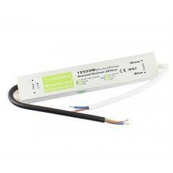 12V RGB 30W strømforsyning - 12V DC, 2,4A, IP67 vanntett