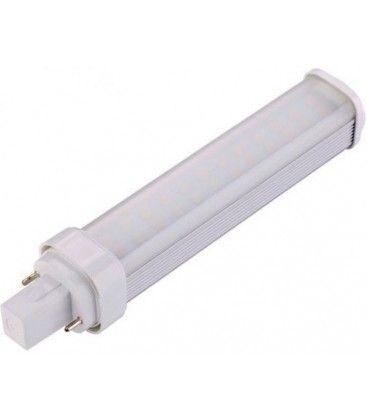 G24D LED pære - 7W, 120°, varm hvit, mattert
