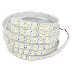 19,2W/m varm hvit dobbelt rekke LED strip - 5m, 120 LED per meter