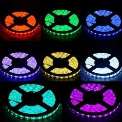 12V IP68 RGB 14W/m RGB vanntett LED strip - 5m, IP68, 60 LED, 14W per meter