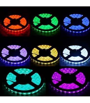 14W/m RGB vanntett LED strip - 5m, IP68, 60 LED, 14W per meter