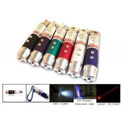 Laserpointer 3 i 1 - Laserpointer, lommelygte og UV lampe