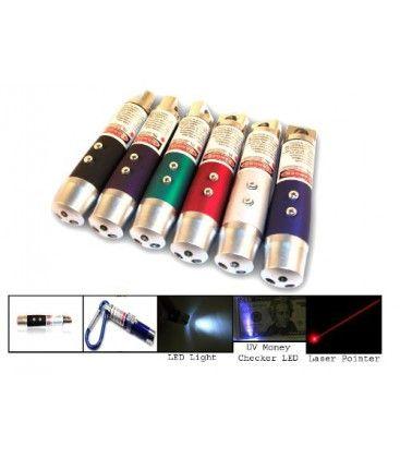 3 i 1 - Laserpointer, lommelygte og UV lampe2