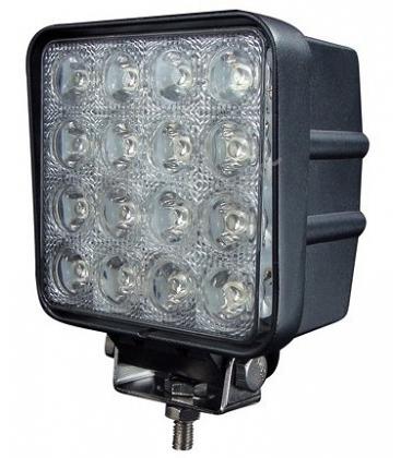 48W LED arbeidslys - Bil, lastebil, traktor, trailer, utrykningskjøretøyer, kald hvit, 12V / 24V