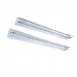 Alpha LED T8 armatur - 2x 120 cm rør, åpen armatur