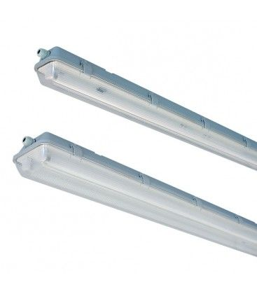 Vento T8 LED armatur - Til 1x 60 cm LED rør, IP65 vanntett