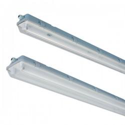 Uten LED - Lysrør armatur Vento LED T8 armatur - 2x 120 cm rør, IP65 armatur