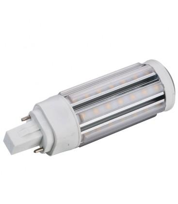 GX24D LED pære - 9W, 360°, varm hvit, mattert