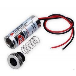 Rød linje laserpointer - 5mW, 3-6 Volt
