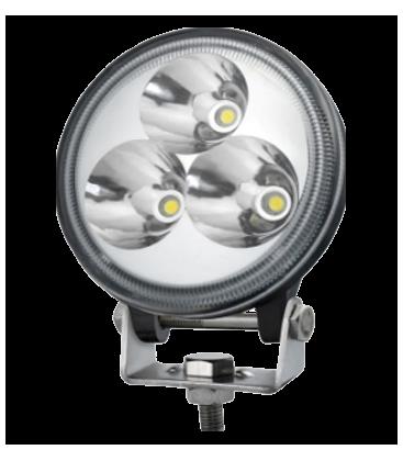 9W LED arbeidslys - Bil, lastebil, traktor, trailer, utrykningskjøretøyer, kald hvit, 12V / 24V