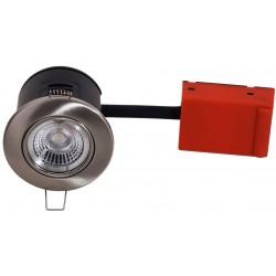 Innendørs downlights Daxtor Easy 2-Setup downlight - Børstet stål, rett-i-isolasjon