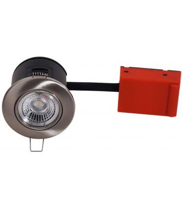 Daxtor Easy 2-Setup downlight - Børstet stål, rett-i-isolasjon
