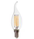 V-Tac 4W LED flamme pære - Karbon filamenter, varm hvit, E14
