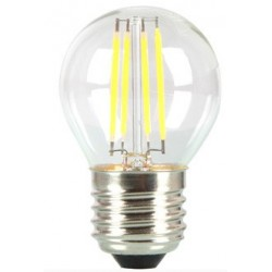 E27 vanlig LED V-Tac 4W LED krone pære - Karbon filamenter, E27