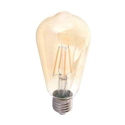 V-Tac V-Tac 6W LED karbon filamenter pære ekstra Varm - Røkt glass, 2200k, ST64, E27 - Dimbar : Nei, Lysfarge : Ekstra varm