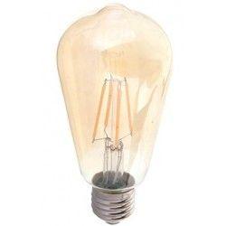 E27 LED V-Tac 6W LED pære - Karbon filamenter, røkt glass, ekstra varm hvit, 2200K, ST64, E27