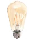 V-Tac 6W LED karbon filamenter pære ekstra Varm - Røkt glass, 2200k, ST64, E27