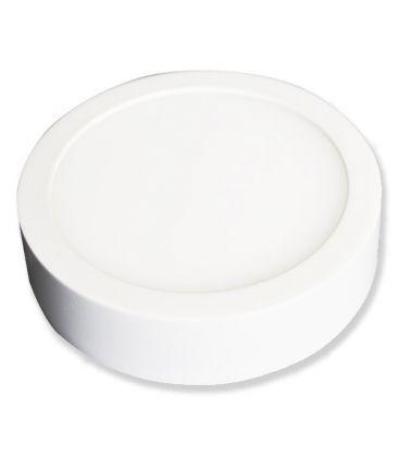 V-Tac taklys / LED panel 6W - ekstra tynn, Diam: 9 cm, Høyde: 2,4 cm, hvit kant
