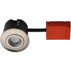 Baderomsbelysning Daxtor Easy 2-Change downlight - Børstet stål, våtrom og rett-i-isolasjon