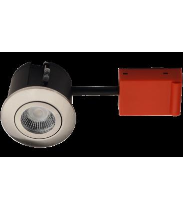 Daxtor Easy 2-Change downlight - Børstet stål, våtrom og rett-i-isolasjon