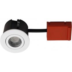 Baderomsbelysning Daxtor Easy 2-Change downlight - Matt hvit, våtrom og rett-i-isolasjon
