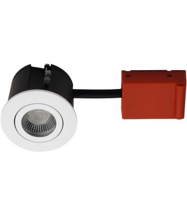 Daxtor Easy 2-Change downlight - Matt hvit, våtrom og rett-i-isolasjon