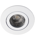 Daxtor Alu line downlight - Matt hvit, til utendørs med GU10 plast spacer