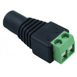 12V RGB DC hunnplugg - Med skrukobling, 12V (Max 60W), 24V (Max 120W)
