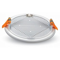 LED panel downlights V-Tac LED panel Ø14,5 cm 15W - Hvit kant, innfelt, 230V