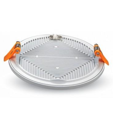 V-Tac LED panel Ø14,5 cm 15W - Hvit kant, innfelt, 230V