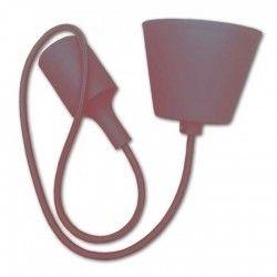 V-Tac Brun pendel med stoff kabel - 230V, E27 silikon sokkel