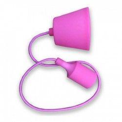 LED pendel V-Tac Pink pendel med stoff kabel - 230V, E27 silikon sokkel