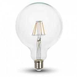 E27 LED V-Tac 10W LED globe pære - Karbon filamenter, G125, E27