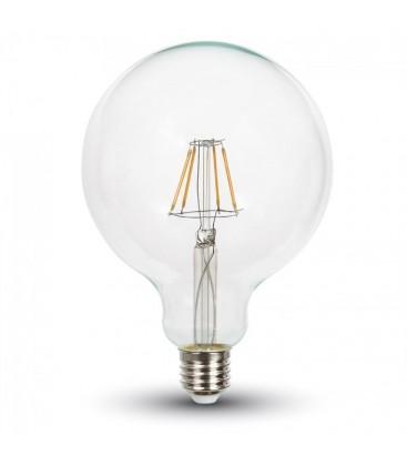 V-Tac 10W LED globe pære - Karbon filamenter, G125, E27