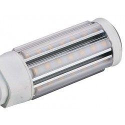G24Q (4 pinner) GX24Q LED pære - 11W, 360°, kort modell, varm hvit, mattert