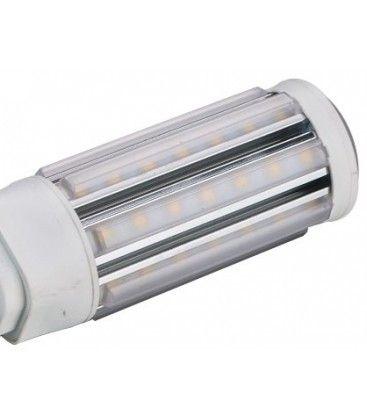 GX24Q LED pære - 11W, 360°, kort modell, varm hvit, mattert