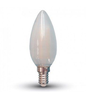 V-Tac 4W LED stearinlys pære - Karbon filamenter, mattert, E27