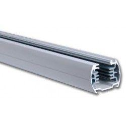 Skinnesystem LED V-Tac 2 meter skinne til LED skinnespots - Sølv, 3-faset