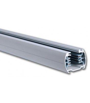 V-Tac 2 meter skinne til LED skinnespots - Sølv, 3-faset