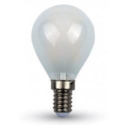 E14 LED V-Tac 4W LED krone pære - Karbon filamenter, mattert, E14