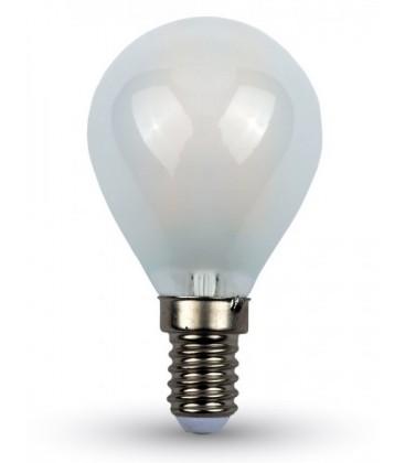 V-Tac 4W LED krone pære - Karbon filamenter, mattert, E14