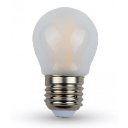 V-Tac 4W LED krone pære - Karbon filamenter, mattert, G45, E27